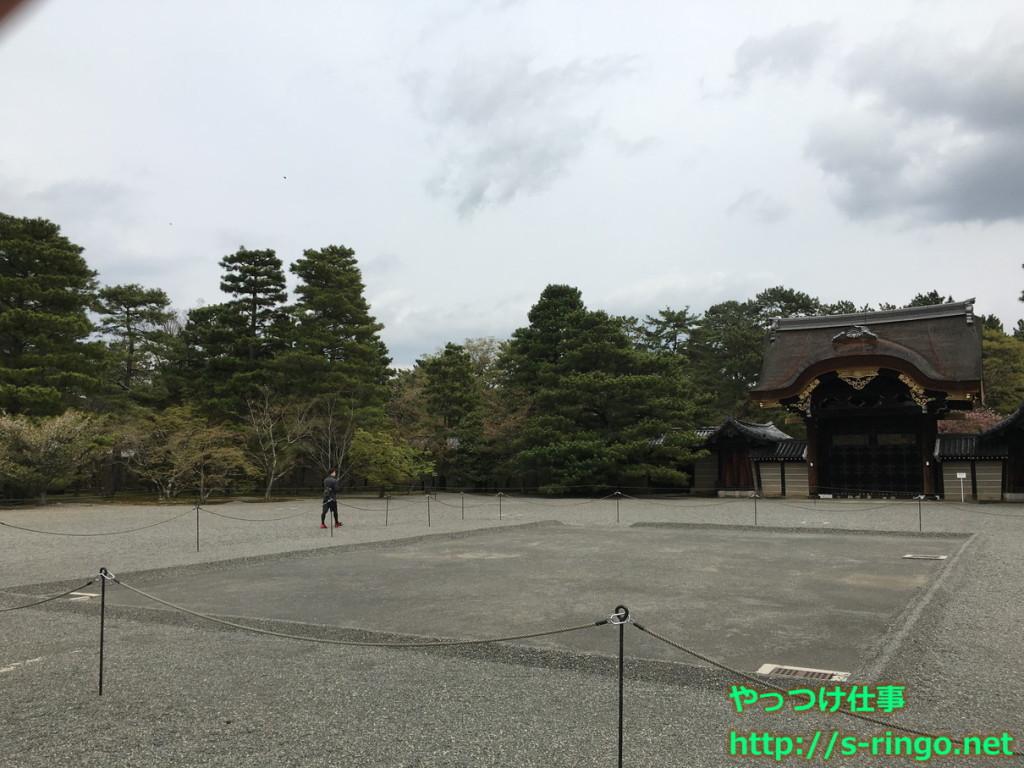 京都御所蹴鞠会場