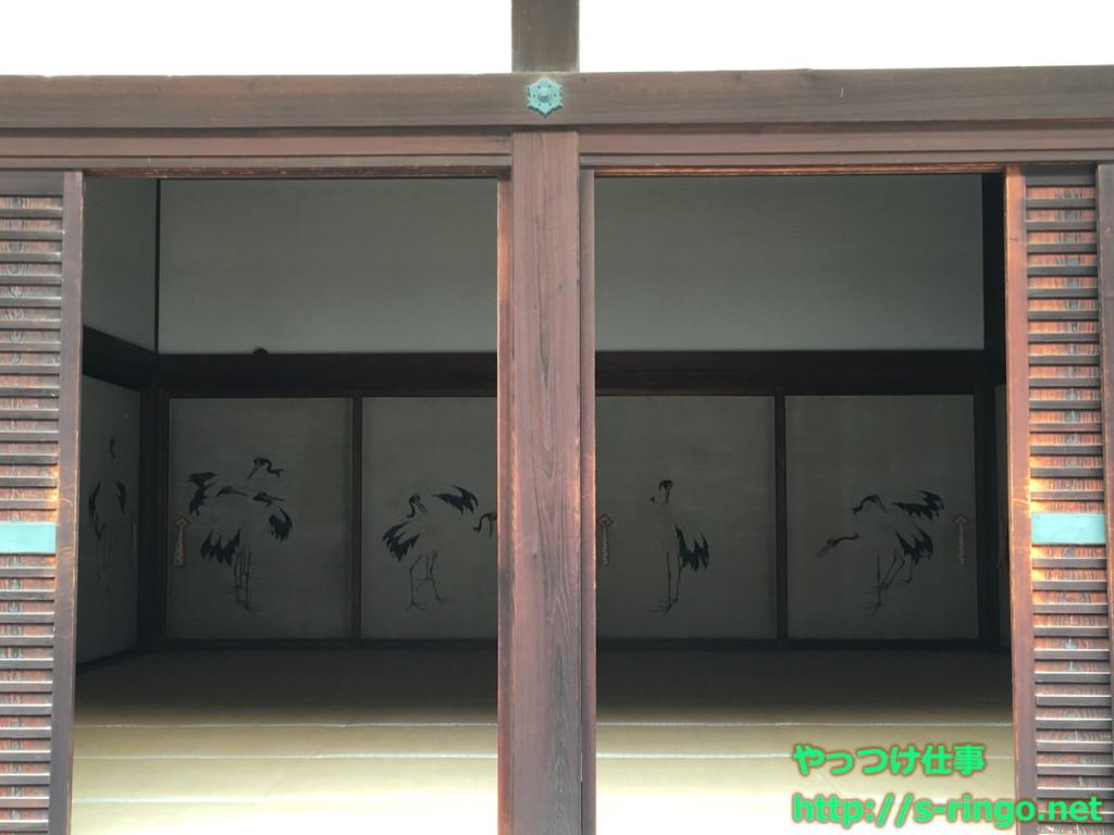 鶴の間 鶴図(筆者・狩野 永岳)