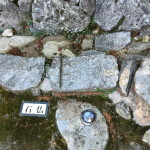 石段に使用された石仏
