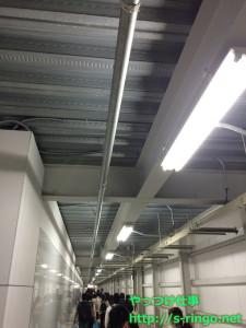 倉庫の廊下のような道が続く…
