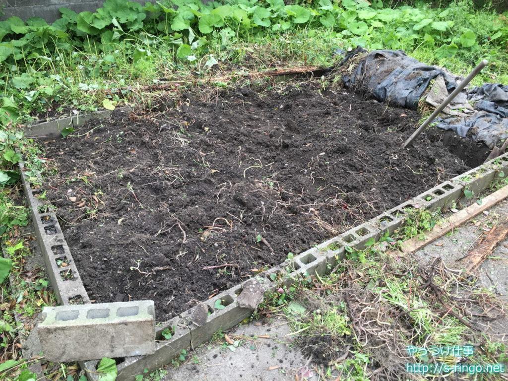 家庭菜園・耕した畑